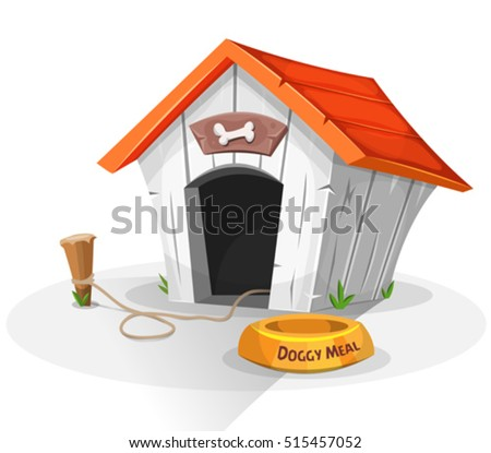 dog house  illustration of a