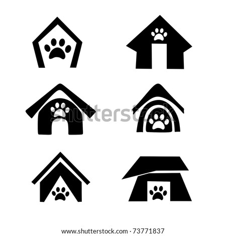 dog house symbol set