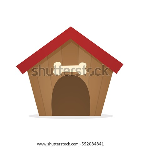 dog house vector isolated