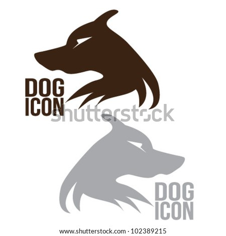 Dog Icon illustrative logo vector