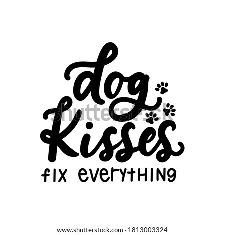 dog kisses fix everything funny