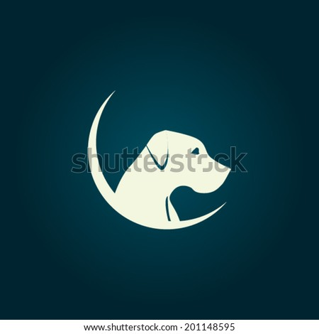 dog logo concept   vector