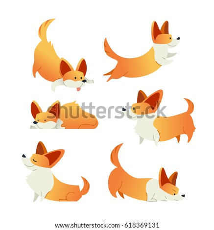 dog   modern vector flat design