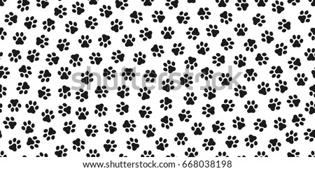 dog paw cat paw kitten vector