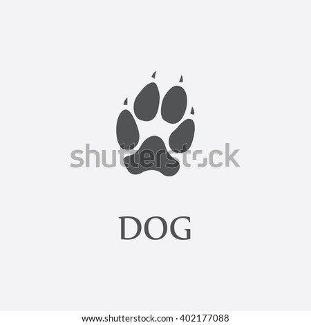 dog paw dog paw vector dog