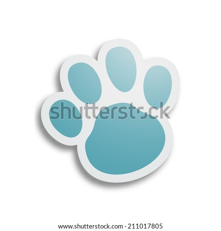 dog paw   eps10 vector
