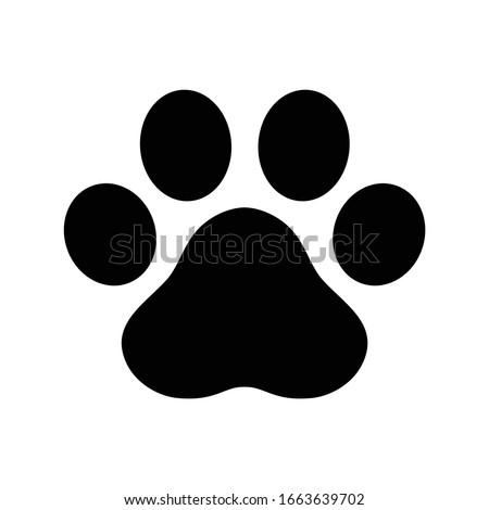 dog paw footprint icon logo