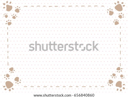 dog paw prints frame - Dog Frame
