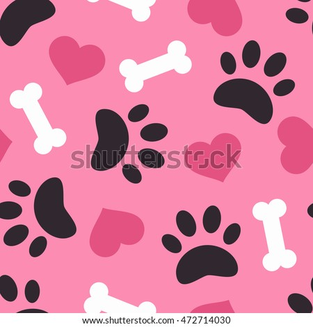 dog paw trace silhouette with