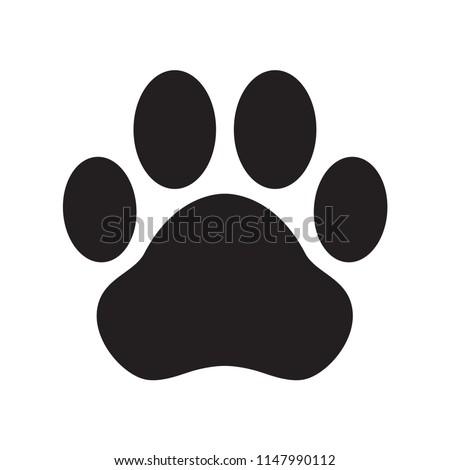 dog paw vector icon logo illustration cat clip art french bulldog cartoon