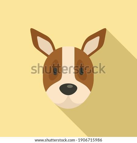 Dog portret icon. Flat illustration of dog portret vector icon for web design Stockfoto ©