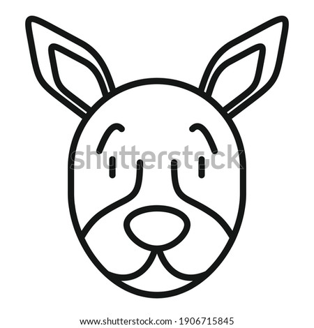 Dog portret icon. Outline dog portret vector icon for web design isolated on white background Stockfoto ©
