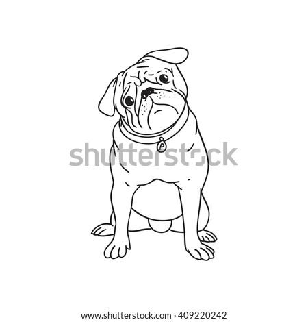 dog puppy illustration dog
