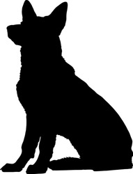 Dog silhouette illustration - Vector
