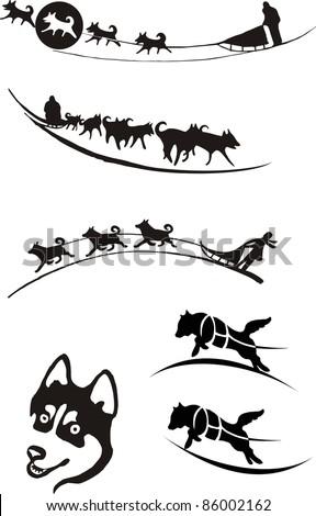 dog sledding  logo