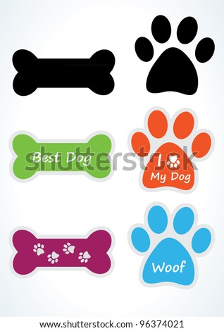 dog sticker set vector