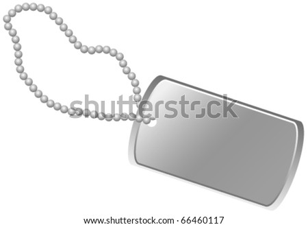 Dog Tag - stock vector