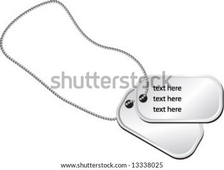 dog tags - stock vector