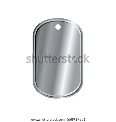 dog tags military isolated