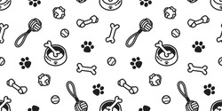 dog toy puppy icon vector seamless pattern wallpaper background doodle