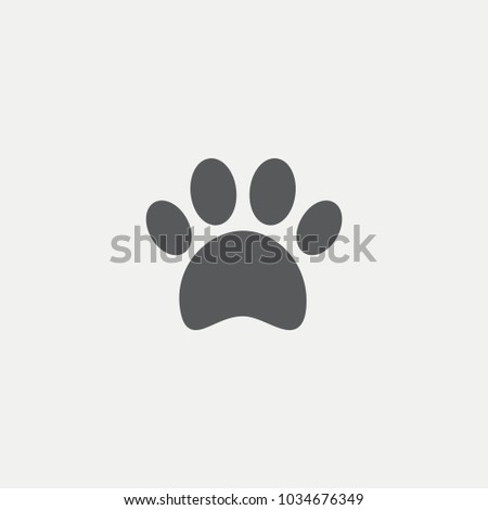 Dog Track Flat Icon