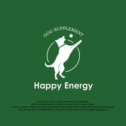 dog trainner & supplement silhoutte design logo