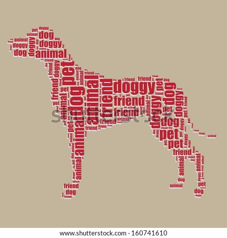 dog typography 3d text word art