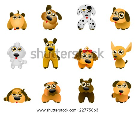 dog vector - cartoon series 2 - stock vector
