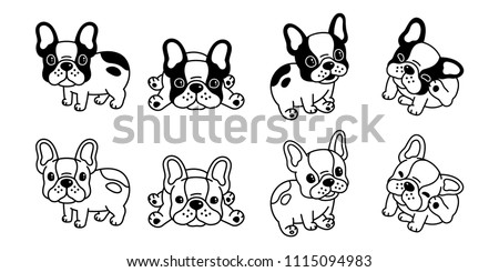 dog vector french bulldog logo icon cartoon character illustration symbol black