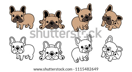 dog vector french bulldog logo icon cartoon character illustration symbol brown