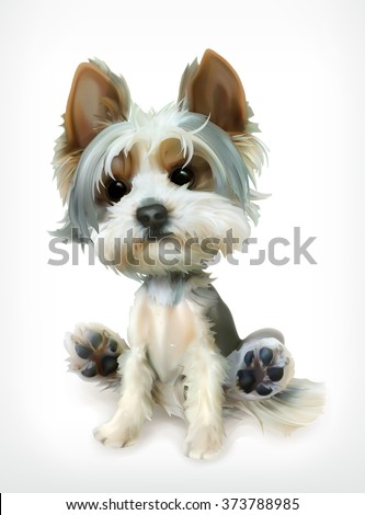 Dog vector icon. Puppy cheerful character, illustration isolated on white background