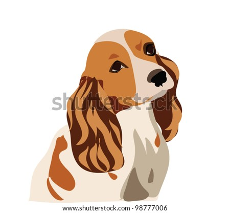 Dog vector isolated on white - stock vector