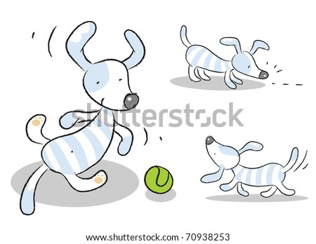 dog vector set isolated on white