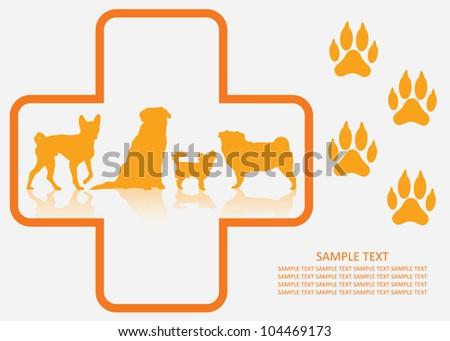 Dog veterinary - vector