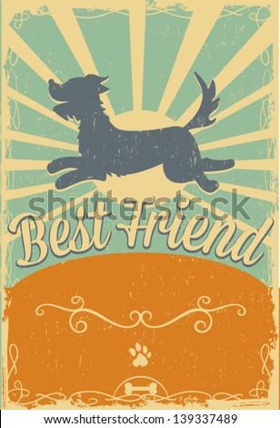 dog vintage poster