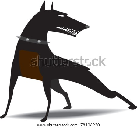 dog wearing collar with spikes
