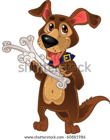 Dog with bones