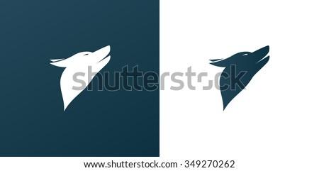 dog  wolf logo icon background