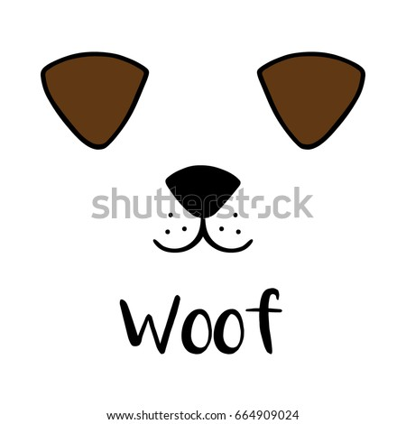 dog woof vector illustration...