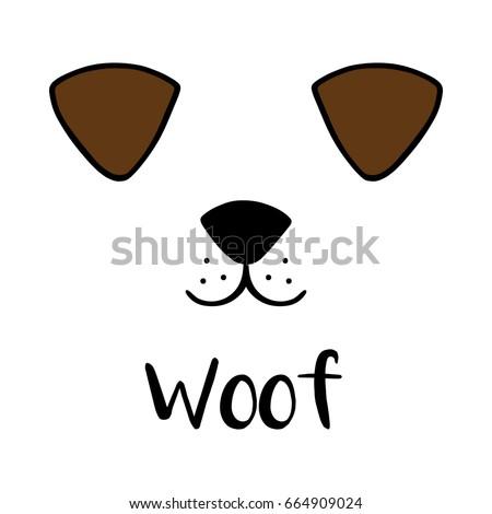 dog woof vector illustration...