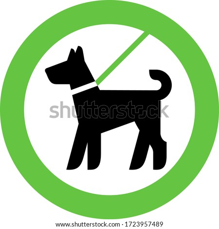 Dogs Allowed only on a lead, modern sign for city design, vector illustration Сток-фото ©