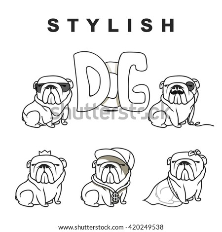 dogs characters doodle dog