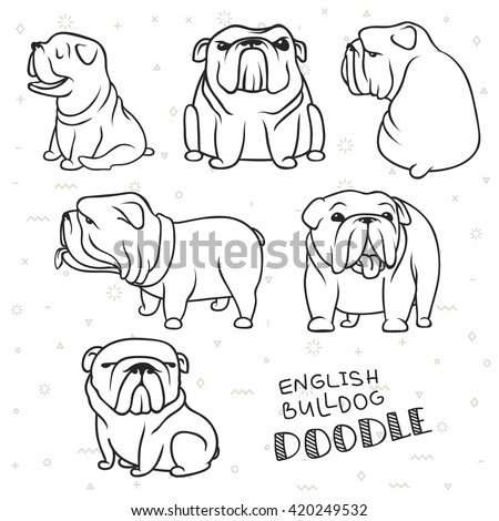 dogs characters doodle sticker