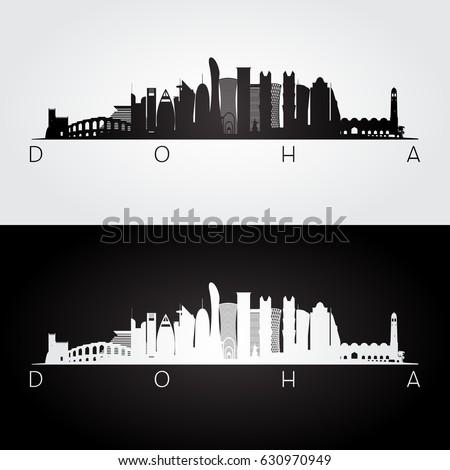 doha skyline and landmarks