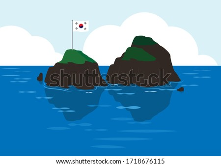 dokdo has two islands donghae