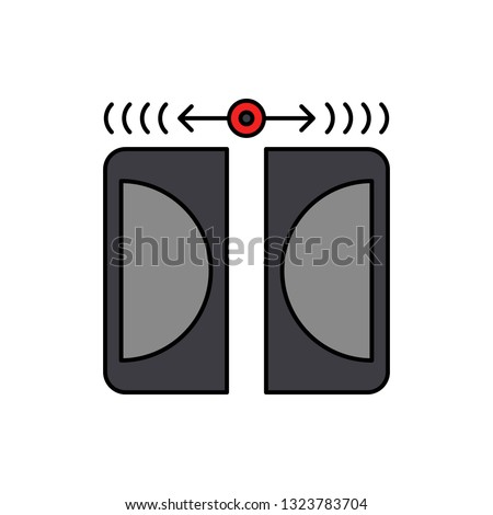 Dolby, audio, digital icon. Element of color music studio equipment icon. Premium quality graphic design icon. Signs and symbols collection icon