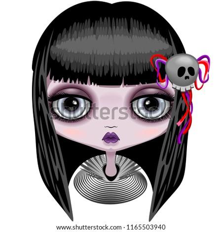doll creepy halloween cute face
