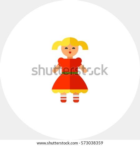 doll flat icon