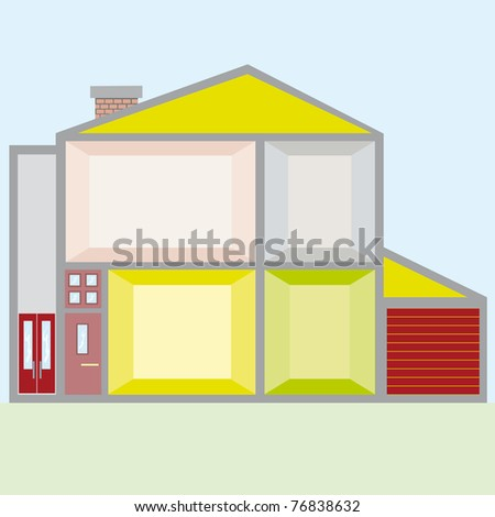 doll house vector illustration