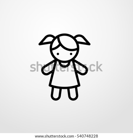 doll icon illustration isolated